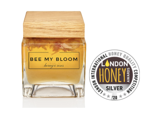 BEE MY BLOOM with a silver medal for Quality at the 2020 London International Honey Awards (LIHA).